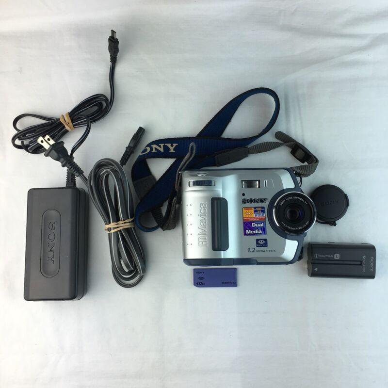 Vintage Sony Camera Digita FD Mavica Dual Media 1.2 Mega Pixels Works