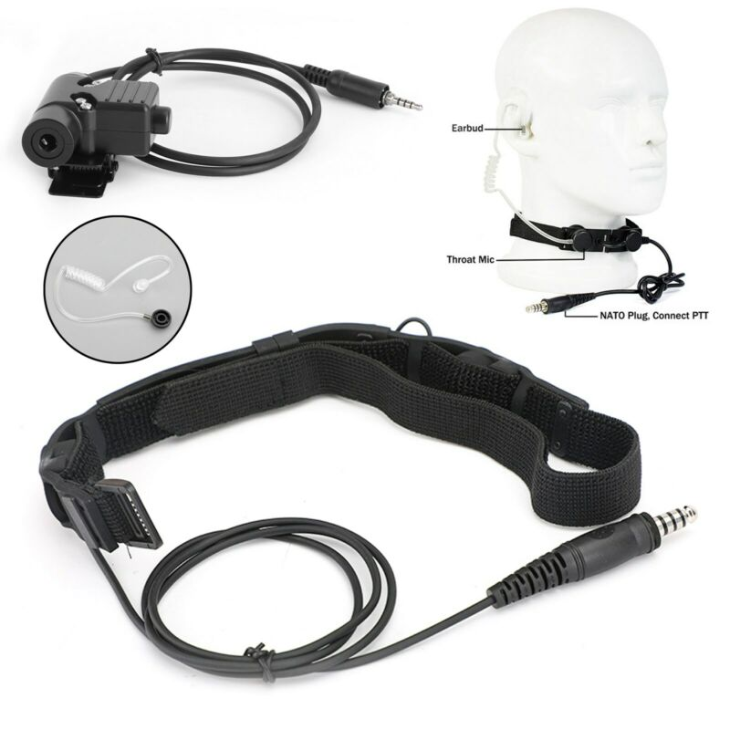 Waterproof Tactical Throat Mic Headset for VX-6R VX-7R VXA-300 FT-270 VX-700