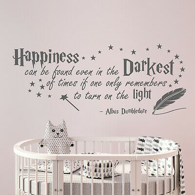 Harry Potter Happiness Albus Dumbledore quote Wall Sticker nursery Decal v033