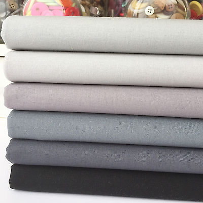 Rainbow Craft 100% cotton fabric blenders per 1/2 metre or 6 piece bundles greys