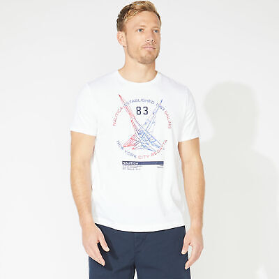 Nautica Mens Dueling J-Class Graphic T-Shirt
