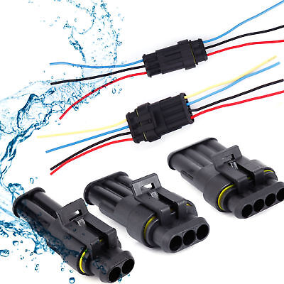 10x 234 Pin Way Car Auto Waterproof Electrical Connector Plug Socket Wire Kit