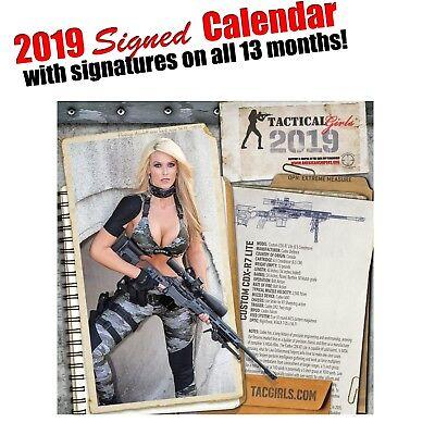 Tactical Girls 2016 Gun Calendar USMC Soldier Sailor Airman Shooter Gift