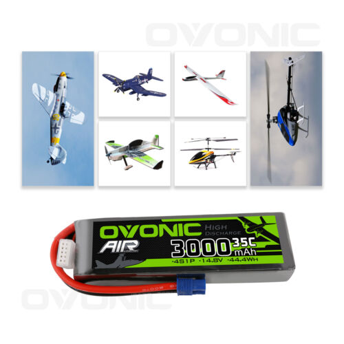 Ovonic 14.8V 3000mAh 35C 4S Lipo Battery with EC3 Plug for R