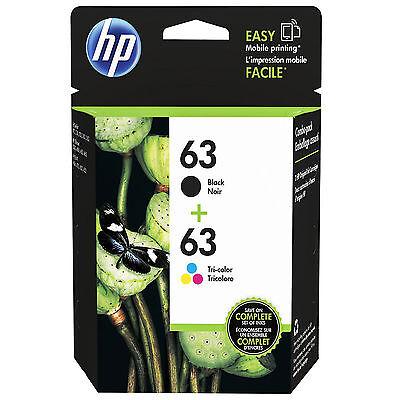 2018-2019 NEW HP 63/63 GENUINE BLACK & COLOR COMBO SET INK CARTRIDGES