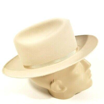 1950s Mens Hats | 50s Vintage Men's Hats VINTAGE 1950s STETSON 3X BEAVER OPEN ROAD HAT Size 7 Chevrolet Promo $175.00 AT vintagedancer.com