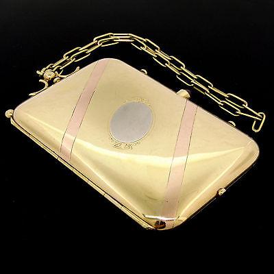 Vintage BOUCHERON Paris 18k Tri Color Gold Ruby Compact Powder Case 166.4 Grams