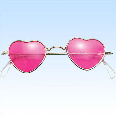 Rosa Herzen Sonnenbrillen (Brille in Herzform rosa Gläser Komplettbrille Unisex Liebe Liebesbrille)