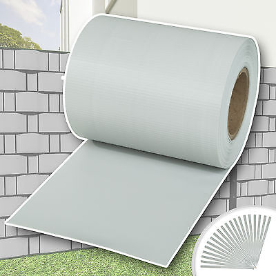 Garden fence screening privacy shade 35 m roll panel cover mesh foil light grey