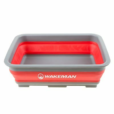 10 Liter Collapsible Portable Hand and Foot Wash Basin Silicone 14.75 x 11 x 5