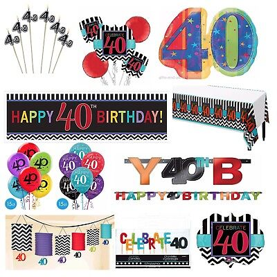 40th Birthday Party Decoration Supplies Fortieth Celebration Adult Parties ~ 40 (Adult Birthday Party Supplies)