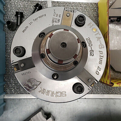 10 Schunk Rota-s Plus 250-62 Chuck And Expansion Arbor Near Brand New Cond.