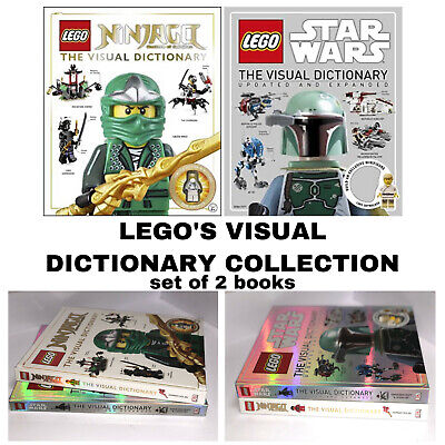 LEGO Visual Dictionary Set of 2 Books Ninjago Masters of Spinjitzu+Star Wars NEW