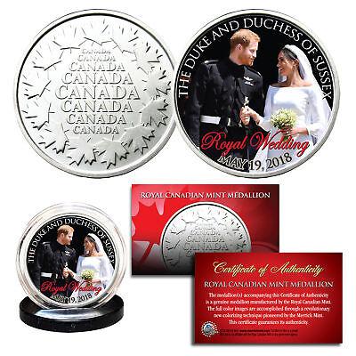 Prince Harry   Meghan Markle Official Look Of Love Photo Royal Wedding Rcm Coin