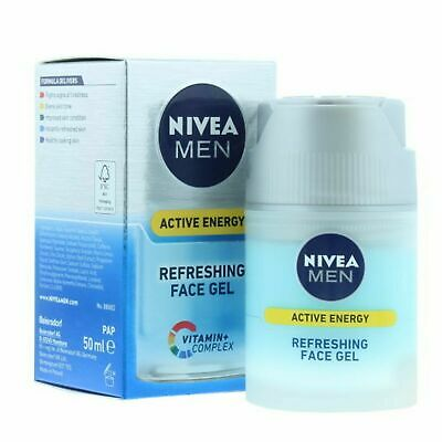 NEW & BOXED - Nivea Men Active Skin Energy Refreshing Face Gel 50ml
