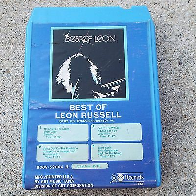 Best 8 Track Recorder - Best of Leon Russell Vintage 8-Track Tape ABC Records 8309-52004 H