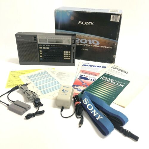 Sony ICF-2010 World Band PLL Synthesize Receiver Radio Air/FM/LW/MW/SW Shortwave