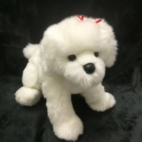 Douglas Toy Plush Bichon Frise Puppy Dog Juliet Red Bows 1806 RETIRED