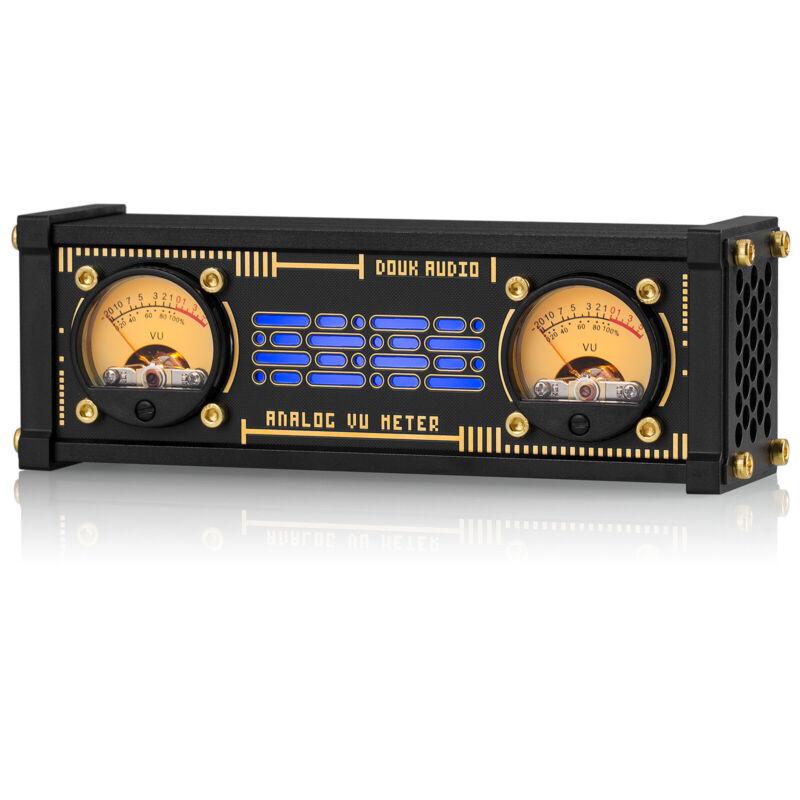 Retro Elekstube Dual Analog VU Meter RGB Sound Level Indicator DB Panel Display