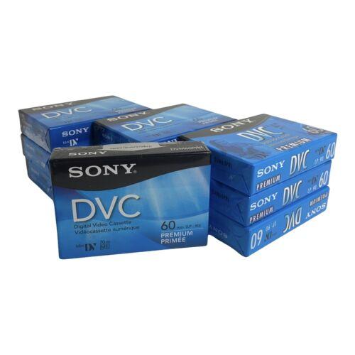 10 Sony DVC Digital Video Cassettes - 60 minutes - Mini DV - PREMIUM - SEALED