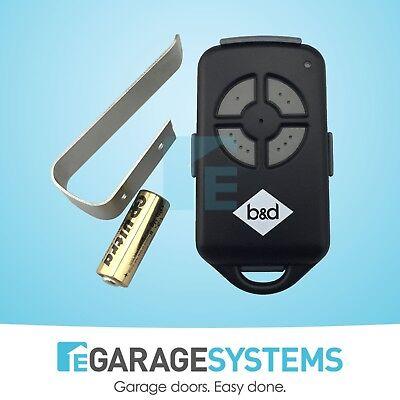 Garage Door Remote Control Roller motor B&D BND PTX4 CAD 062162 059116