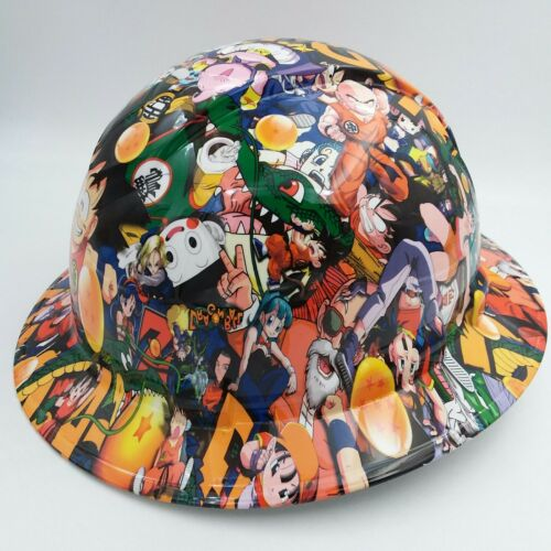 FULL BRIM Hard Hat custom hydro dipped , NEW DRAGON BALL Z HOT NEW PYRAMEX 1