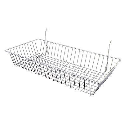 Only Hangers White Slatwall Gridwall Multi Basket 24 W X12 D X 4h 3pk