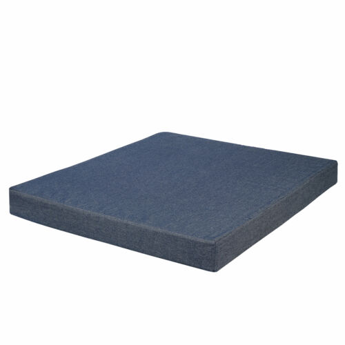 Memory Foam Dog Bed Waterproof Case Washable Durable Denim Cover Blue Beds