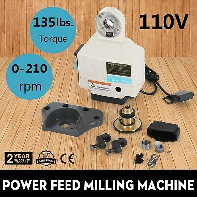 Power Feed X-axis 135lbs Torque For Bridgeport Type Milling Machines 0-210rpm