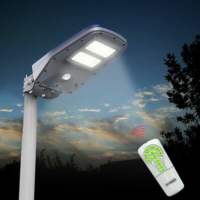 Farola De Energía Solar Proyector LED Exterior Con Panel Fotovoltaico Avenidas