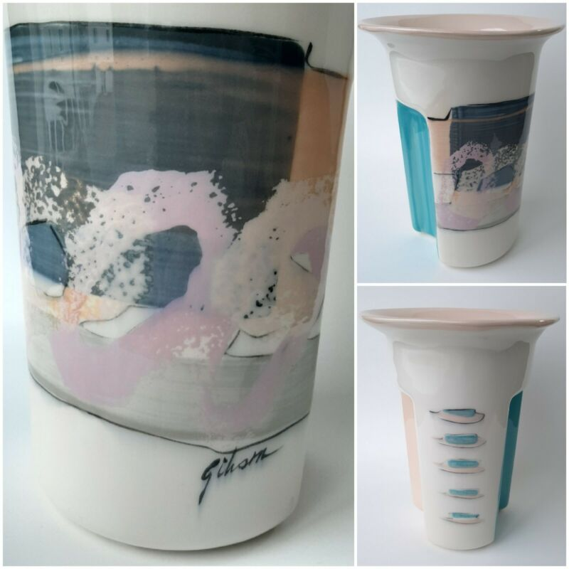 Gibson Memphis Style Signed Vase