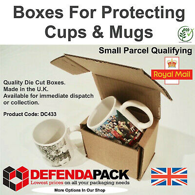 300 Die Cut Cardboard Small Parcel size Postal Boxes for Mailing Mugs Cups DC433