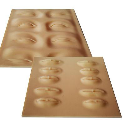 Permanent Makeup Nadel 3 D Übungshaut Auge oder Lippen Schulungsmaterial