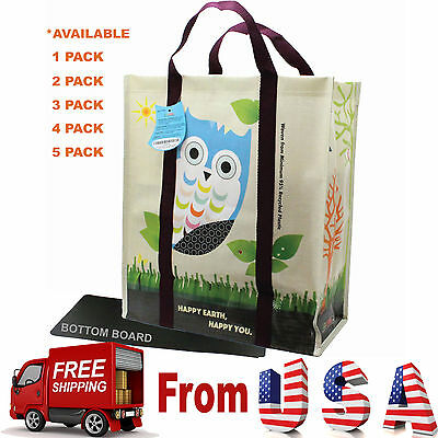 Heavy Duty Laminated (2 X Super Heavy Duty EcoJeannie Laminated Woven Reusable Shopping Bags/ Recycled )