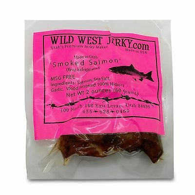 All Natural Wild Caught King Smoked Salmon Tasty Savory Deliciousness 2 OZ Jerky