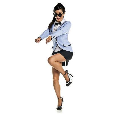 Adult Women's Psy Gangam Style Blue Sports Tuxedo Cosplay Costume Jacket - Psy Costume