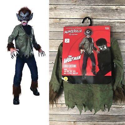 Kids Wolfman Costume (WOLFMAN Monsterville Halloween Rubies Child Costume Universal Studios S 4/6)