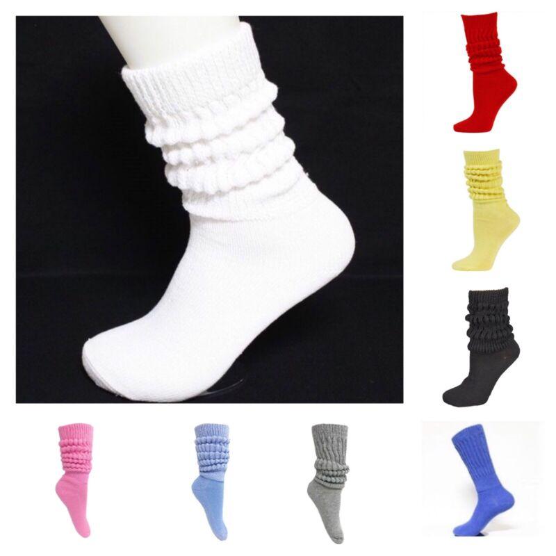 3 PAIRS WOMEN FOOTLOCKER SLOUCH SOCKS WOMEN SHOES SIZE 9-13 WHITE COTTON 85/%