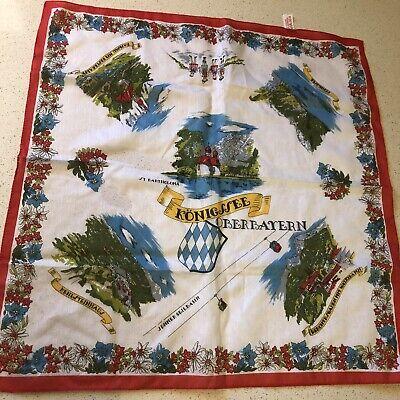 Vintage Scarf Styles -1920s to 1960s Vintage German Square Scarf, Konigssee $7.00 AT vintagedancer.com