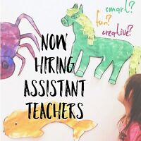 Smart, Creative & Bubbly Assistant Teachers Wanted