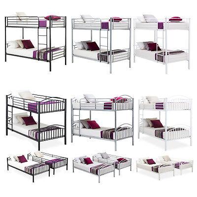 Twin over Twin Metal Bunk Beds Frame Ladder for Kids Adult Children Bedroom Dorm