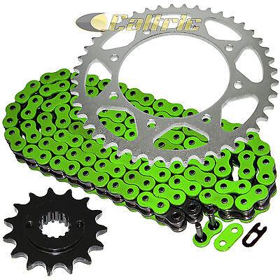 - Green O-Ring Drive Chain & Sprocket Kit Fits KAWASAKI KLR650 KL650 1990-2016