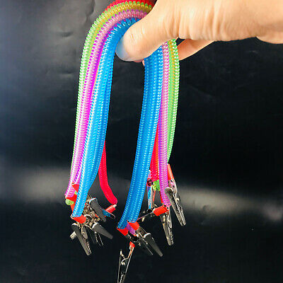 5 Pcs Dental Patient Bib Clips Chains Napkin Holder Flexible Coil Plastic Chain