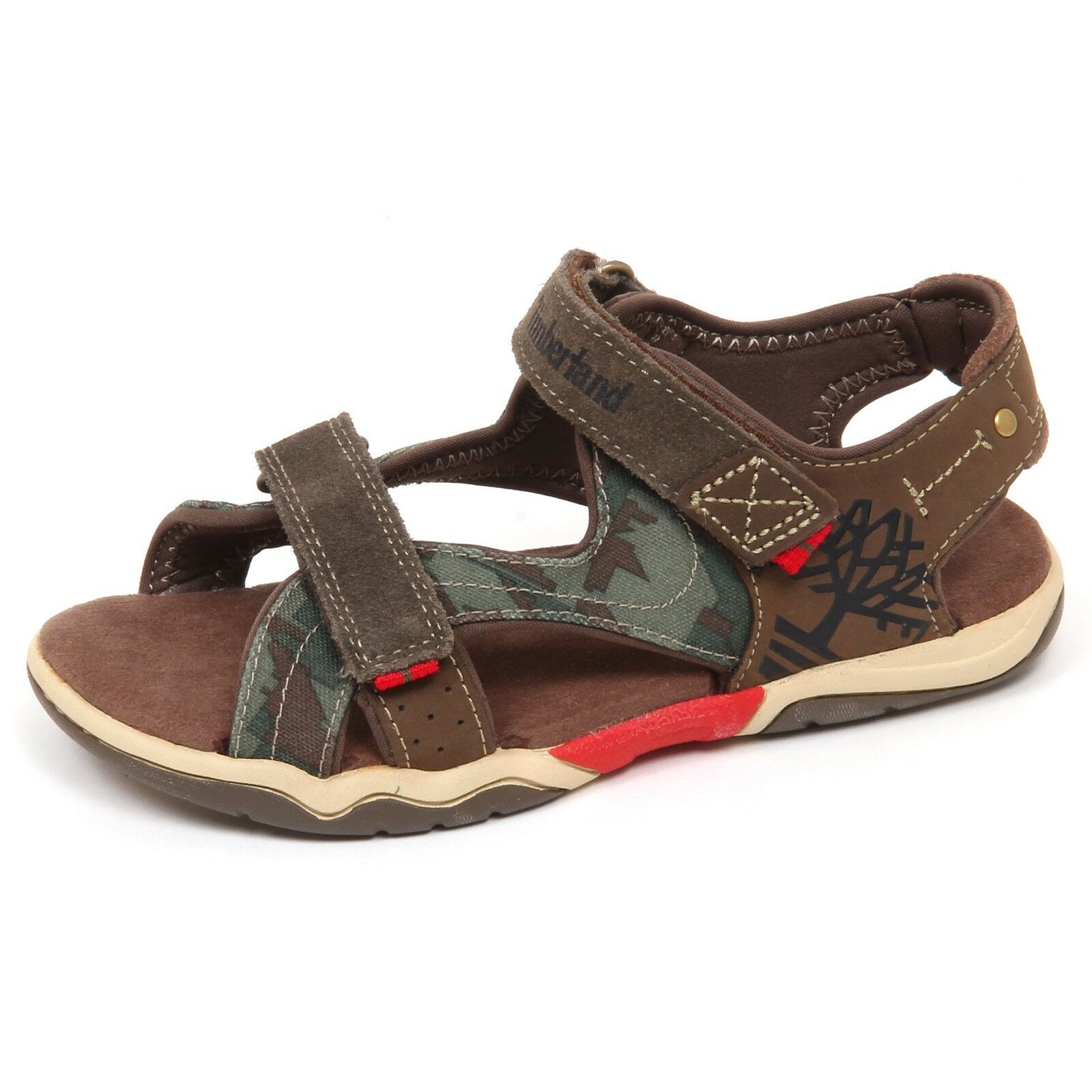 E6332 sandalo bimbo brown/green TIMBERLAND scarpe shoe baby kid boy