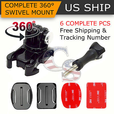 360° Rotating Swivel Helmet Surface Mount for GoPro Hero 1 2 3 3+ 4 Accessories