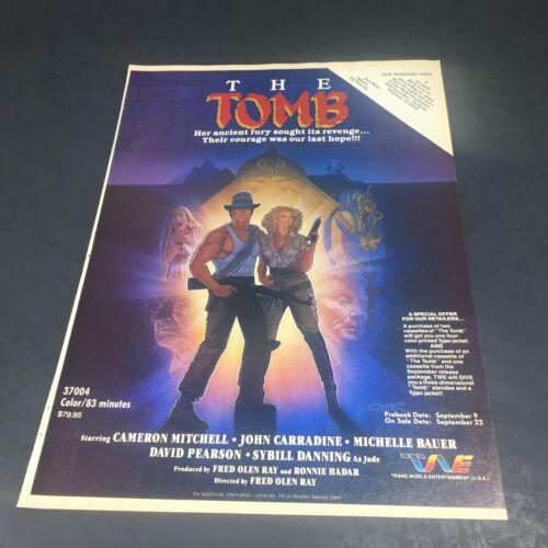 Vintage 1986 Print AD Advertisment Video THE TOMB John Carradine Sybil Danning