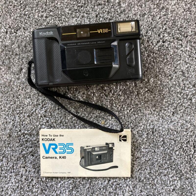 **NO FLASH** Kodak VR35 K40 35 mm Film Point & Shoot Camera Ektanar 35MM Lens