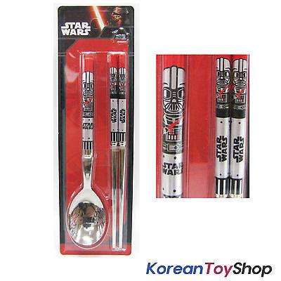 Star Wars Stainless Steel Spoon Chopsticks Set Darth Vader Version Red BPA Free