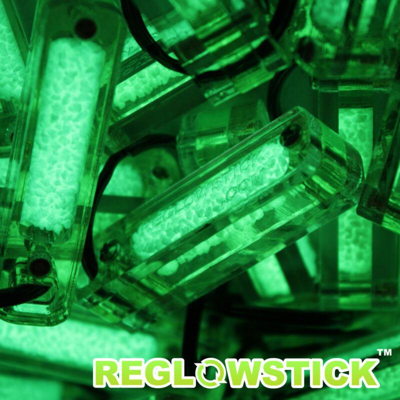 ReGlowStick Fluorescence Keychain GITD GREEN Light Marker Glow Stick
