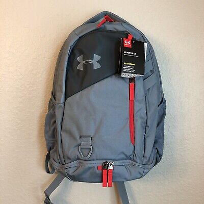 NWT Under Armour UA Hustle 4.0 Gray Laptop Backpack $60 Men's School Gym Travel
